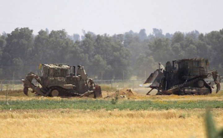 توغل  جرافات عسكرية للاحتلال شرق خانيونس