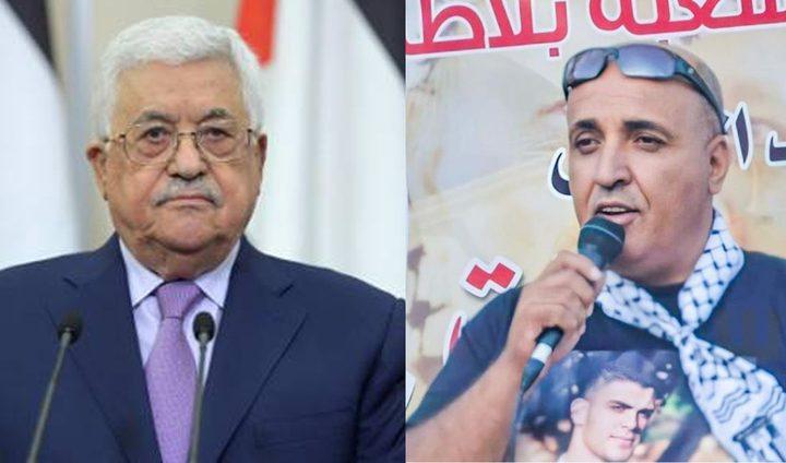 الرئيس عباس يعزي بالشهيد عماد دويكات