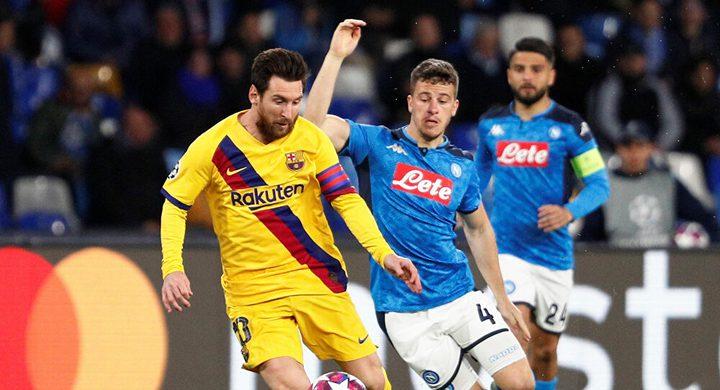 نابولي يطالب بنقل مباراته ضد برشلونة خارج أسبانيا