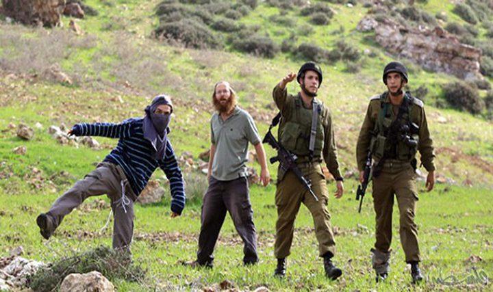 رام الله: الاحتلال يتسبب باحتراق 14 دونما في المغير