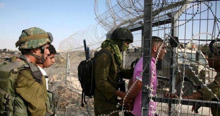الاحتلال اعتقل 13مواطنًا من غزة الشهر الماضي