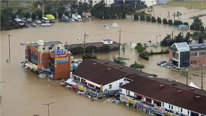 كوريا الجنوبية: مقتل 12 شخصا وفقدان 14 اخرين جراء الأمطار الغزيرة