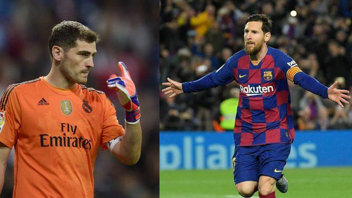 ميسي يوجه رسالة خاصة لحارس ريال مدريد السابق كاسياس