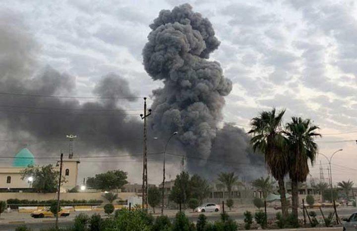 """سقوط صاروخ """"كاتوشيا"""" في محيط المنطقة الخضراء بالعراق"""