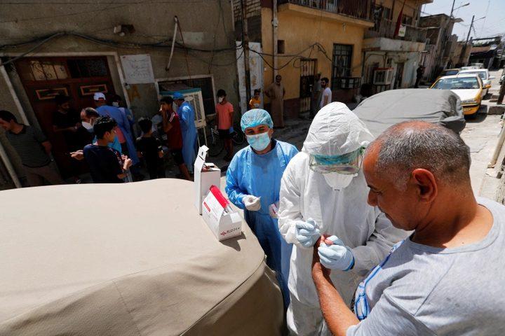 3047 إصابة و67 حالة وفاة بكورونافي العراق