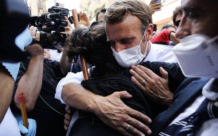 ماكرون: فرنسا لن تتخلى ابداً عن اللبنانيين