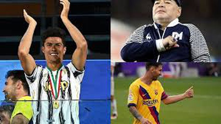 نجل مارادونا يختار الأفضل بين والده ورونالدو وميسي