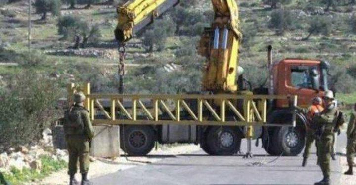 """قوات الاحتلال تغلق فتحة """"فرعون"""" جنوب طولكرم"""