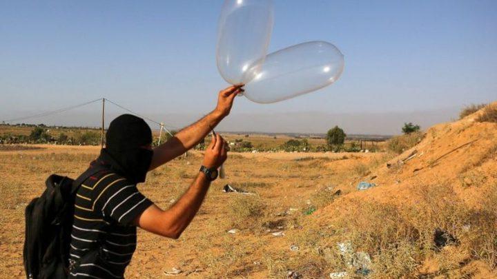 الاحتلال يزعم اطلاق بالونات حارقة تجاه المستوطنات من غزة