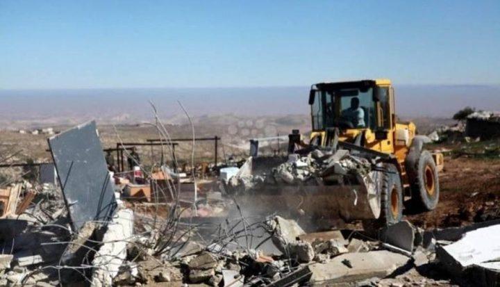 الاحتلال يهدم خيمة سكنية جنوب الخليل