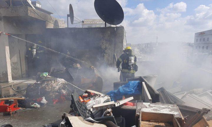 إصابة إثر حريق في باقة الغربية