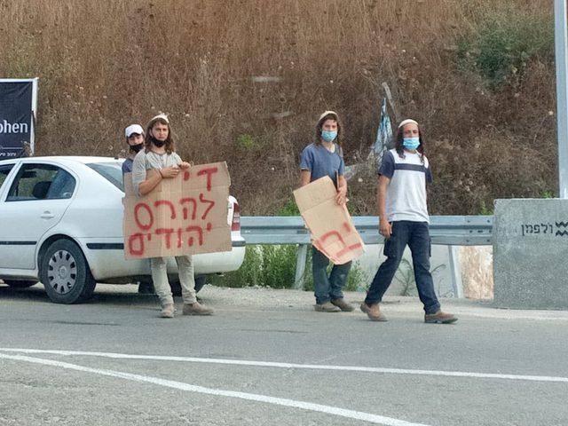 مستوطنون يغلقون طريق نابلس قلقيلية