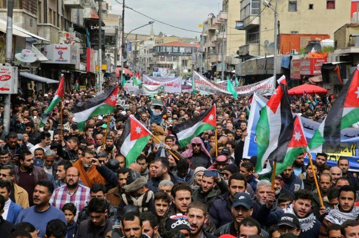 قوى حزبية ونقابية أردنية تندد بالاتفاق الإماراتي الإسرائيلي