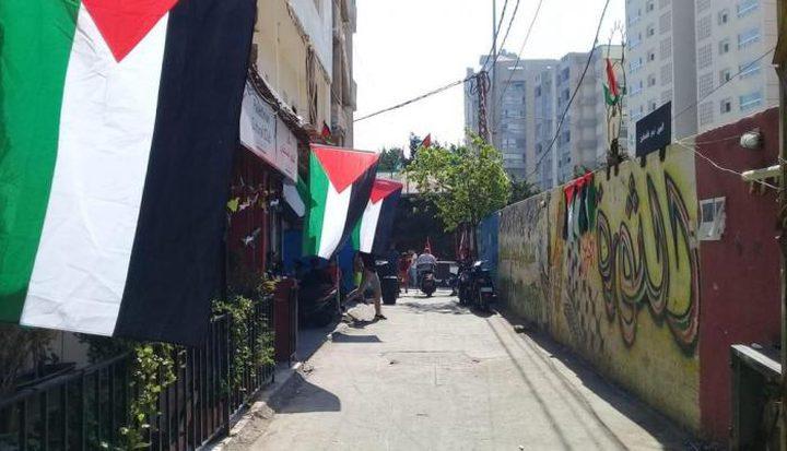 اضراب شامل في المخيمات الفلسطينية في لبنان رفضا لإعلان التطبيع
