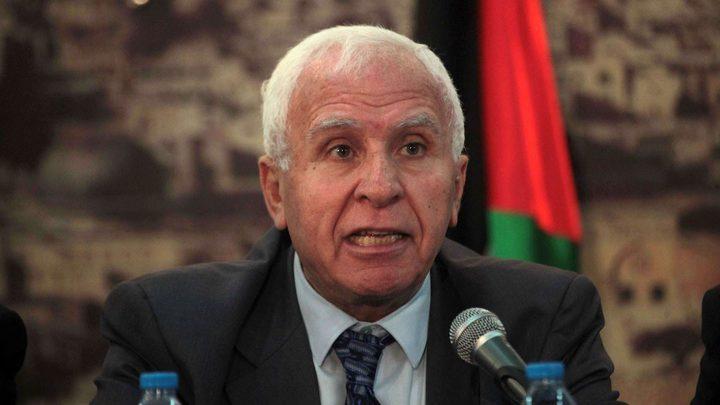 الأحمد يكشف تفاصيل اجتماع القيادة الفلسطينية بالوفد الأمني المصري