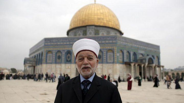 المفتي القدس يؤكد تحريم الزيارات التطبيعية لفلسطين ومقدساتها