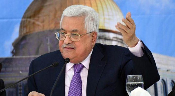 الرئيس عباس: الشعب الفلسطيني وحدة واحدة ضد المؤامرة