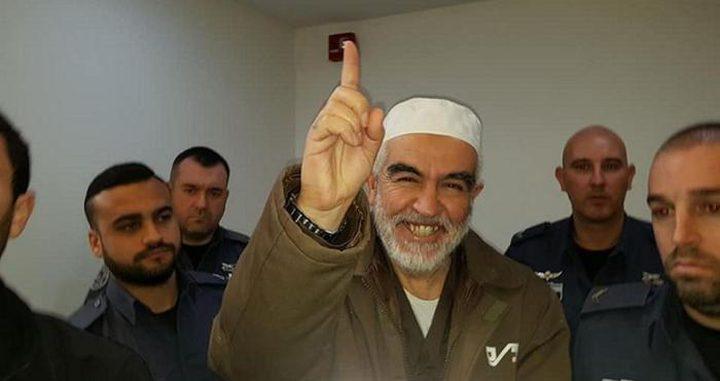 نقل الشيخ رائد صلاح إلى العزل الانفرادي بسجن عسقلان