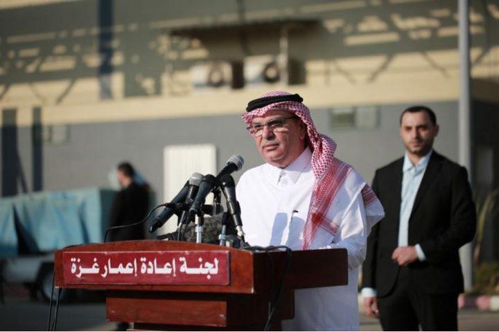 العمادي: جهود قطرية مكثفة لاحتواء التصعيد في غزة