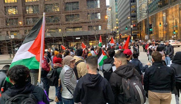 احتجاجات في شيكاغو تنديدا بالاتفاق التطبيعي