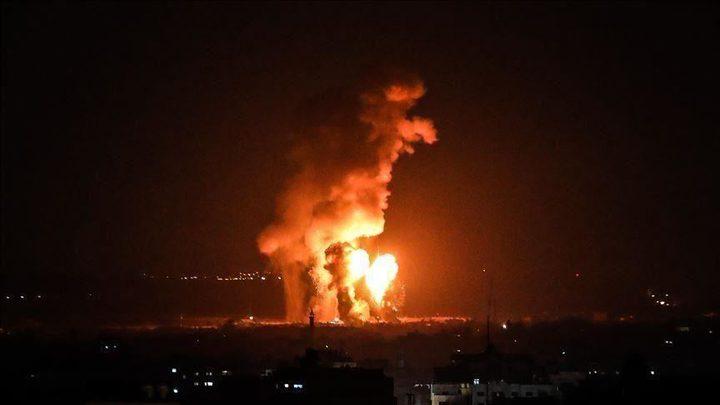 طائرات الاحتلال تشن غارات على مواقع في قطاع غزة
