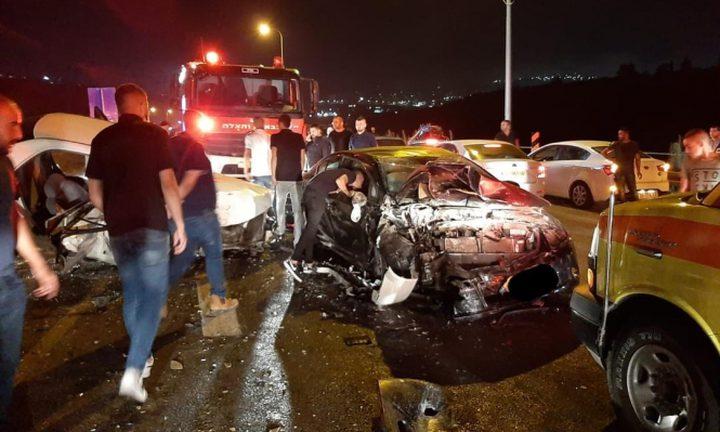 إصابة 5 شبان في حادث سير قرب الرينة