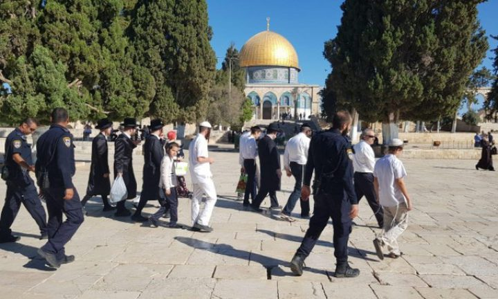عشرات المستوطنين يقتحمون ساحات المسجد الأقصى