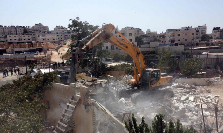 القدس: الاحتلال يهدم منزلا في سلوان
