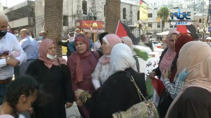 نابلس: وقفة مناهضة للتطبيع مع الاحتلال