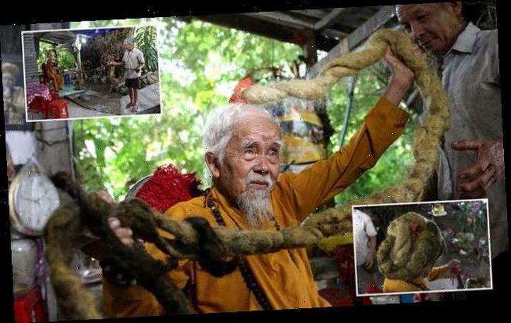 شاهد عجوز فيتنامي لم يغسل شعره منذ 80 عاما