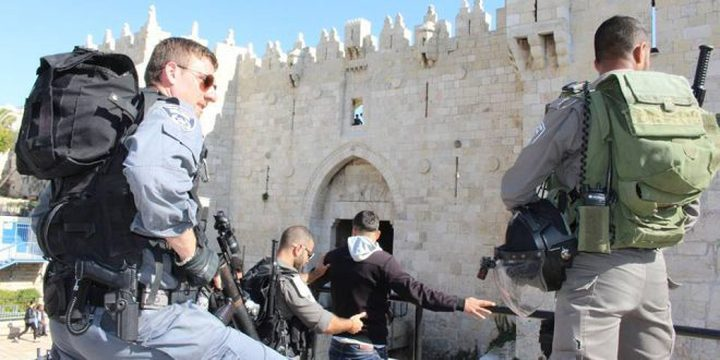القدس: قوات الاحتلال تعتقل شابا وثلاث فتيات قرب باب العامود