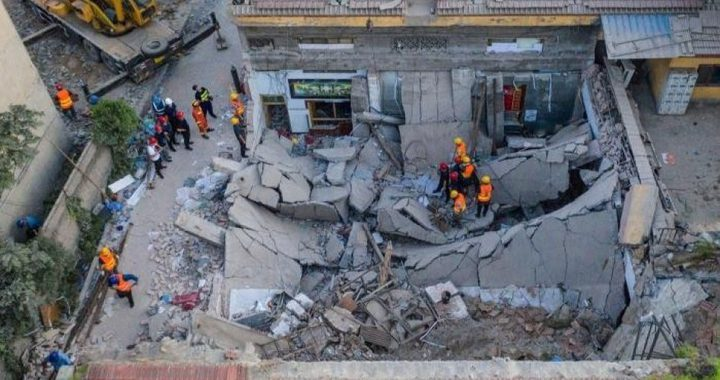 مصرع 29 شخصا في إنهيار مطعم صيني
