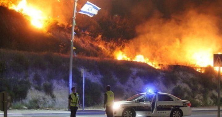الاحتلال يزعم اندلاع حرائق في غلاف غزة بفعل البالونات