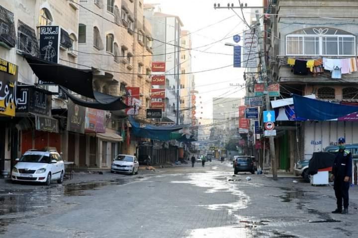 استمرار سريان قرار حظر التجوال لليوم السابع بغزة