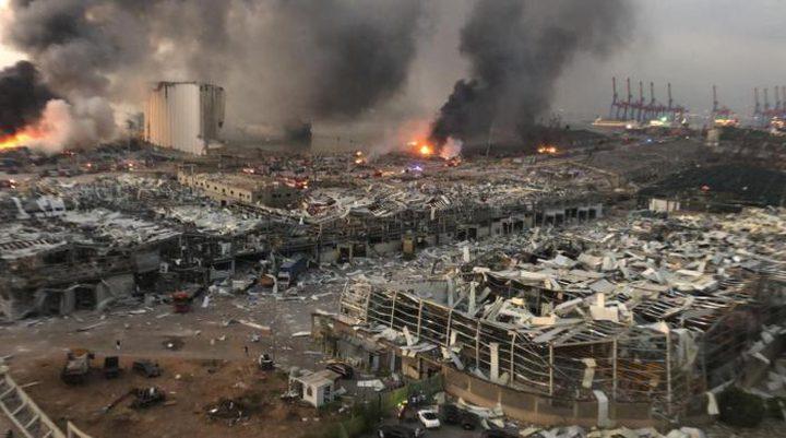 ارتفاع عدد ضحايا في انفجار مرفأ بيروت إلى 190