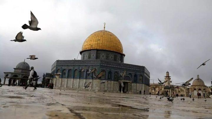 اغلاق فتحة في باحات المسجد الاقصى المبارك
