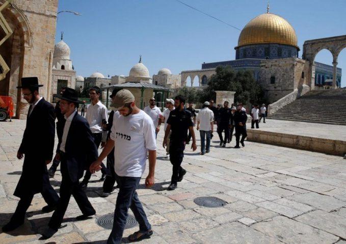 123 مستوطنا وطالبا يهوديا يقتحمون باحات المسجد الأقصى