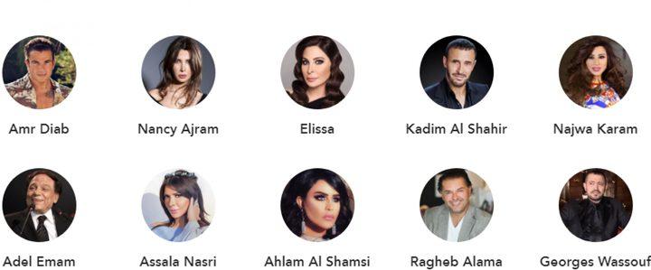 أشهر 10 نجوم عرب بقائمة فوربس.. عمرو دياب في الصدارة