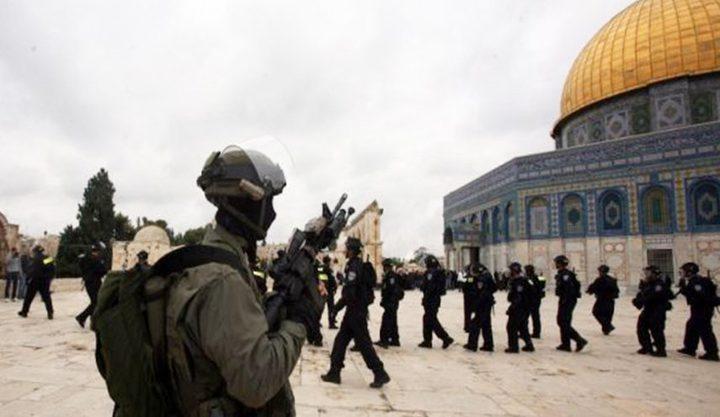 الاحتلال يعتقل 3 من حراس المسجد الأقصى