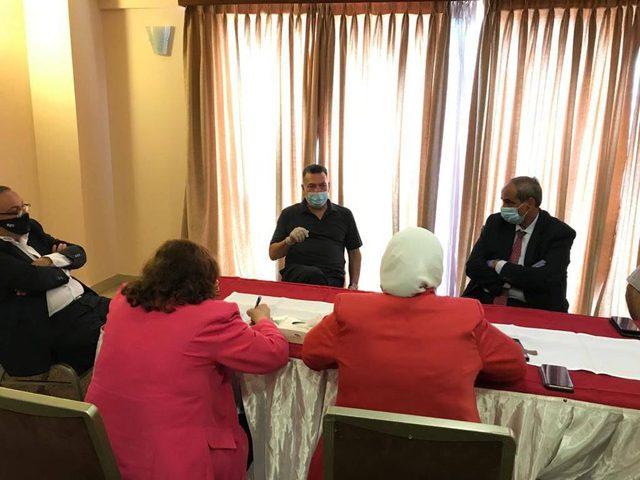 الوفد الوزاري يلتقي بممثلين عن قطاع البنية التحتية في غزة