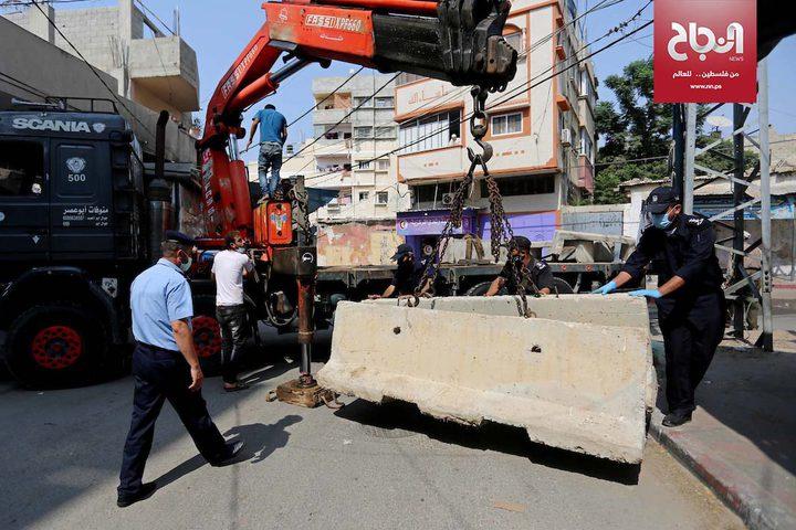 جانب من الاجراءات لمنع تفشي فيروس كورونا في قطاع غزة