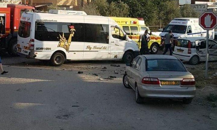 الطيبة: إصابة سائق بجراح متوسطة في حادث سير