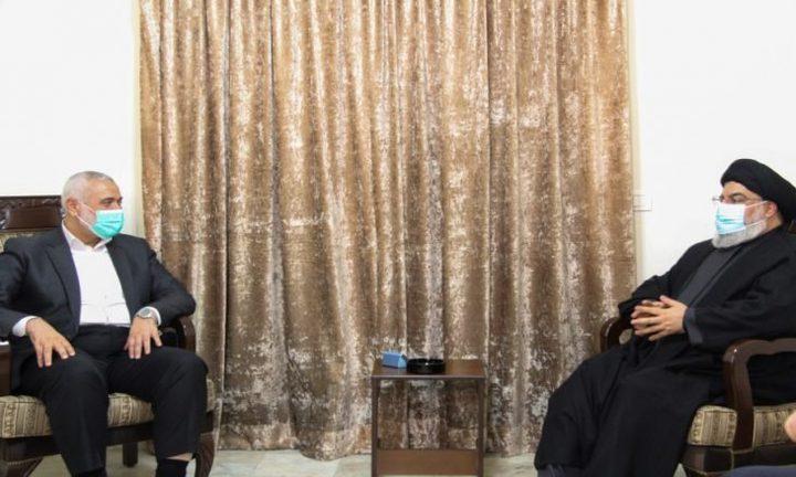 هنية يلتقي بنصر الله في لبنان لبحث التطورات السياسية
