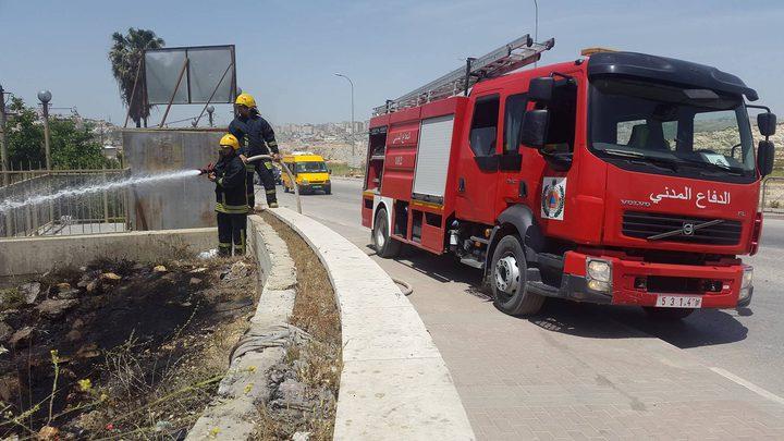 الدفاع المدني يتعامل مع 48 حادث حريق وإنقاذ في الضفة