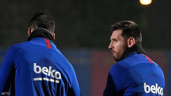 عودة النجم الأرجنتيني ميسي للتدريبات مع فريقه برشلونة