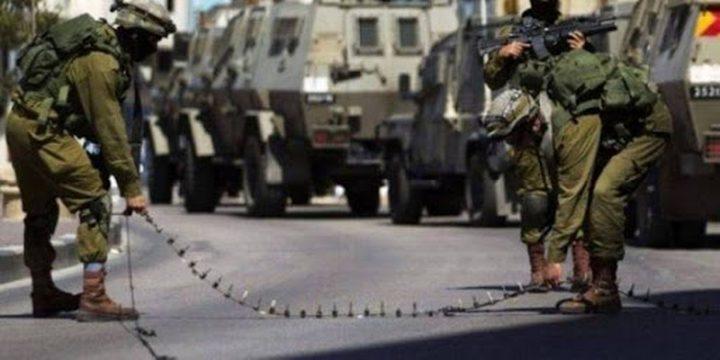 قوات الاحتلال تعيقتحركات المواطنين غرب جنين
