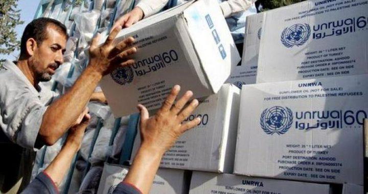 الأنروا تستأنف توزيع المساعدات الغذائية على اللاجئين بغزة