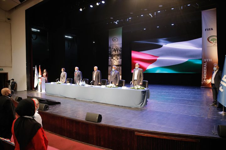 أعمال اجتماع الجمعية العمومية التاسع للاتحاد الفلسطيني لكرة القدم