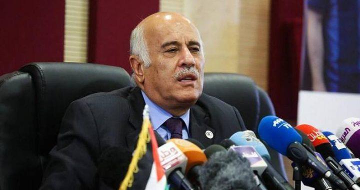 الرجوب:الاتفاق البحريني- الإسرائيلي أمر معيب ومخزٍ