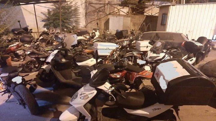 الشرطة تضبط 14 دراجة نارية مخالفة في نابلس